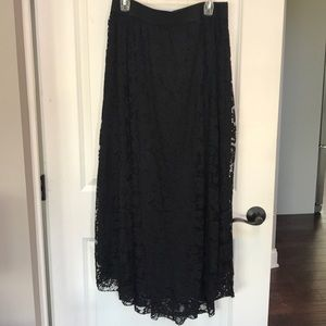 Lularoe lace black long skirt size xl